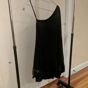 Black on shoulder dress